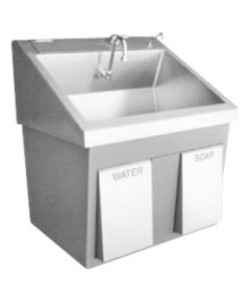 Single Bay Surgical Scrub Sink With Knee Operated Water