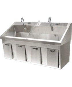 Dual Bay Surgical Scrub Sink